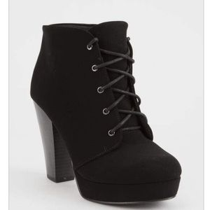 Lace up heeled boots